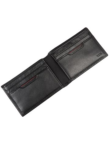 Slim Single Billfold in Black Side View