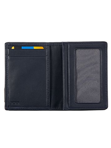 Gusseted Card Case with ID Side View