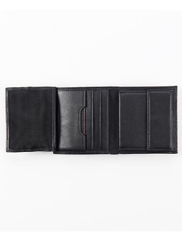 Compact Flip Coin Wallet Side View