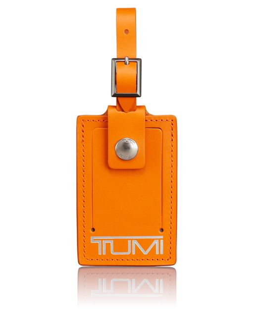 Luggage Tag - Large in Grey/Orange