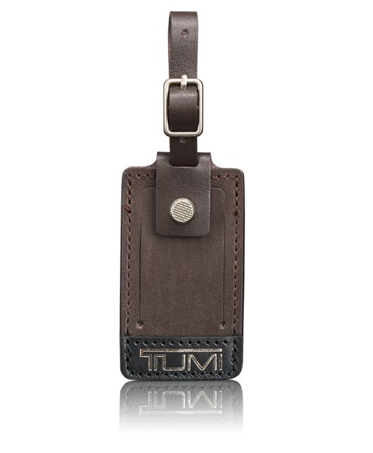 Alpha Bravo Luggage Tag - Small in Brown