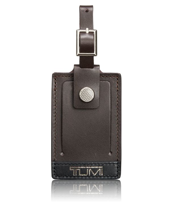 Alpha Bravo Luggage Tag - Large in Brown