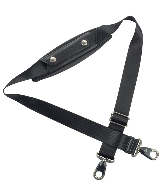 1 1/2 Shoulder Strap with Antique Pewter Hardware in Black