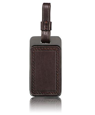 Luggage Tag in Dark Brown