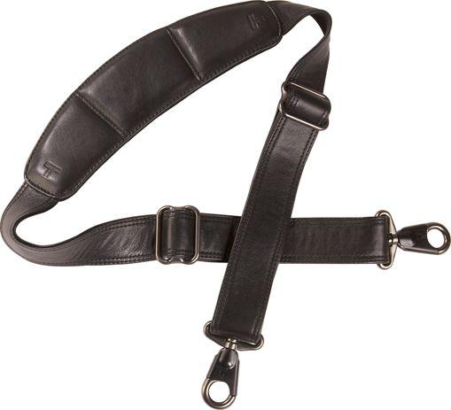Leather Briefcase Shoulder Strap - 1 1/2 in Black