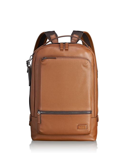 Bates Backpack Leather in Umber Pebbled