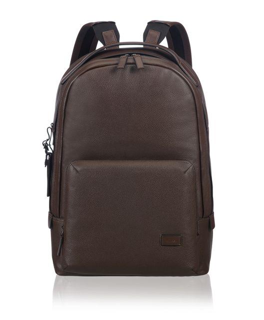 Webster Backpack Leather in Brown Pebbled