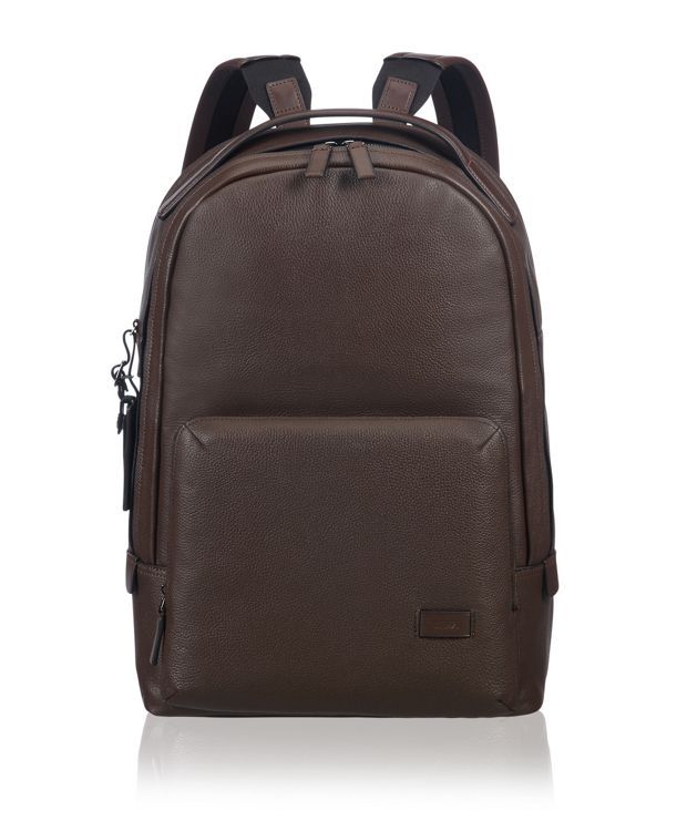 Webster Backpack Leather in Brown Pebbled