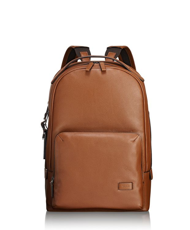 Webster Backpack Leather in Umber Pebbled