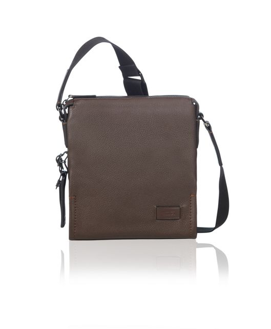 Scott Crossbody Leather in Brown Pebbled