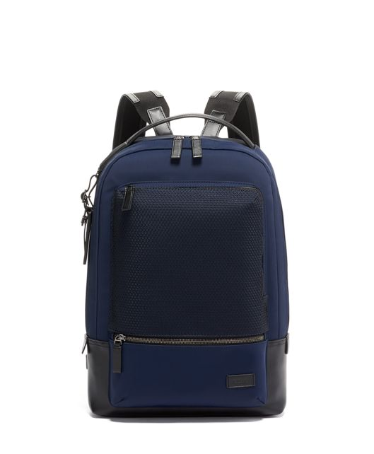 Bates Backpack in Navy Mesh