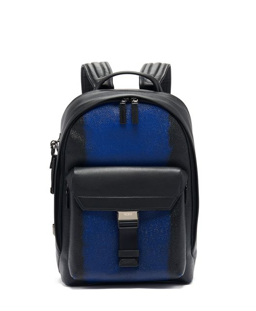 Morrison Backpack Leather in Brush Off Ultramarin