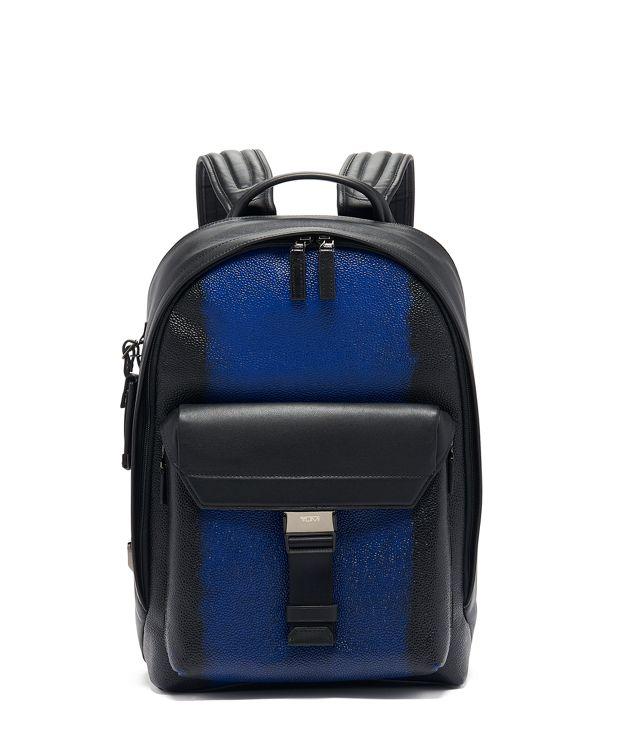 Morrison Backpack Leather in Brush Off Ultramarin
