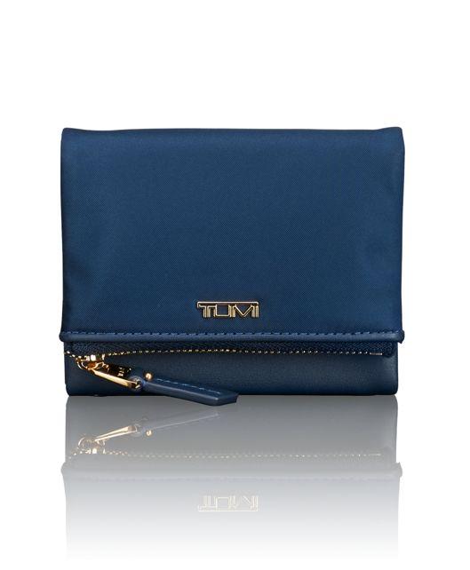 Flap Card Case in Ocean Blue