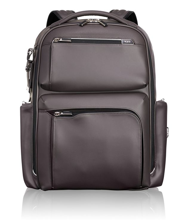 Bradley Backpack Leather in Taupe