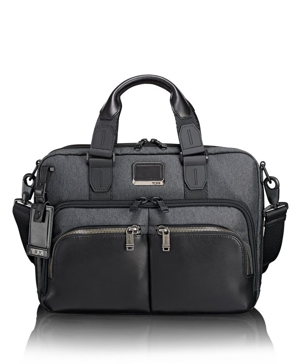 Albany Slim Commuter Brief in Anthracite