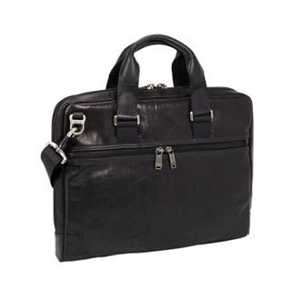 Aviano Slim Brief Leather In Black