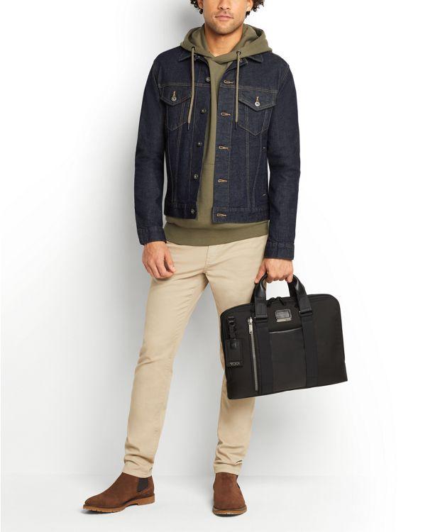 Aviano Slim Leather Brief
