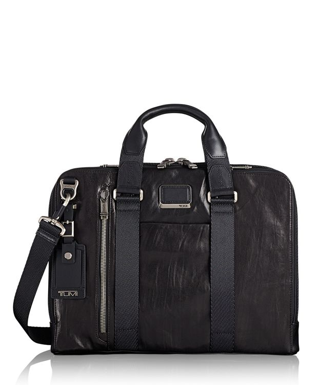 Aviano Slim Brief Leather in Black Leather
