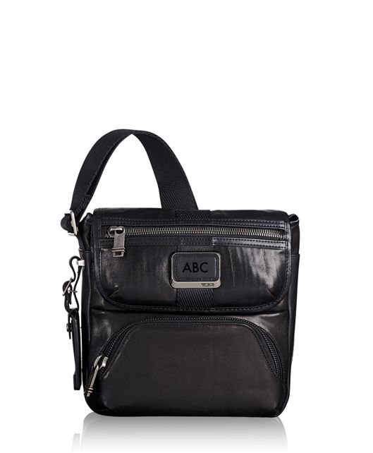 Barton Crossbody Leather in Black Leather