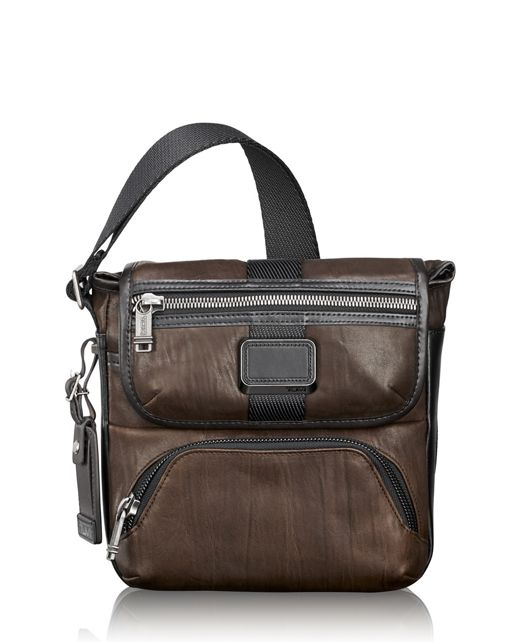 Barton Crossbody Leather in Dark Brown