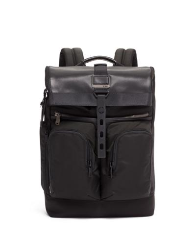 London Roll Top Backpack - Alpha Bravo - Tumi United States - Black b2f93c7f84541