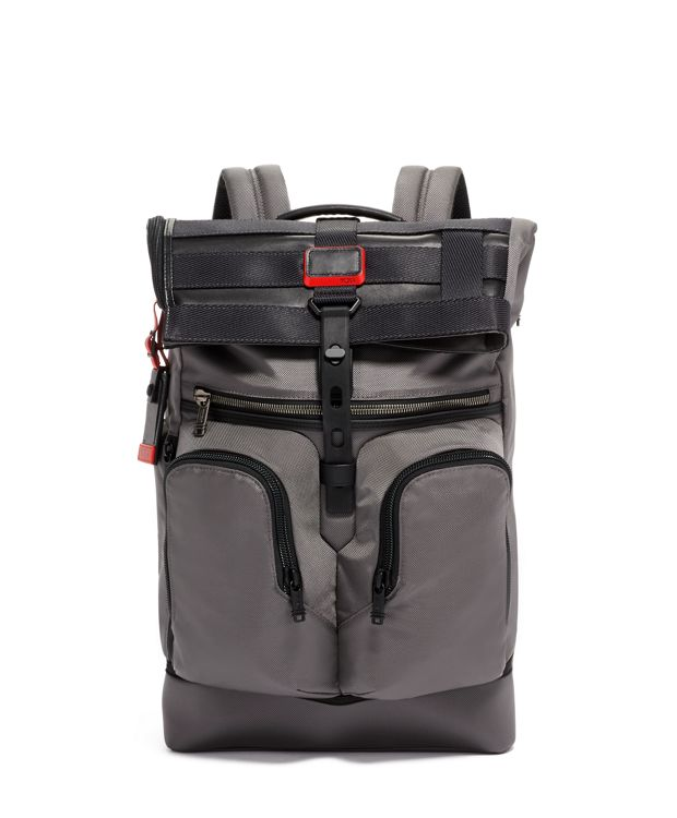 London Roll Top Backpack in Storm