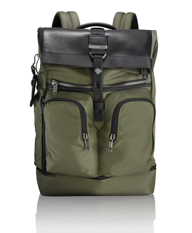 London Roll Top Backpack in Tundra