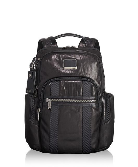 Nellis Backpack Leather in Black Leather