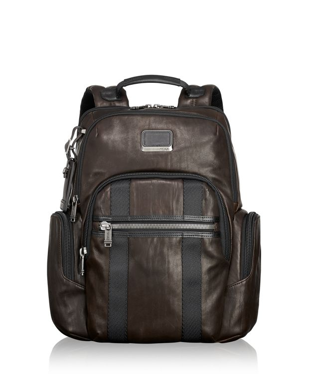 Nellis Leather Backpack in Dark Brown
