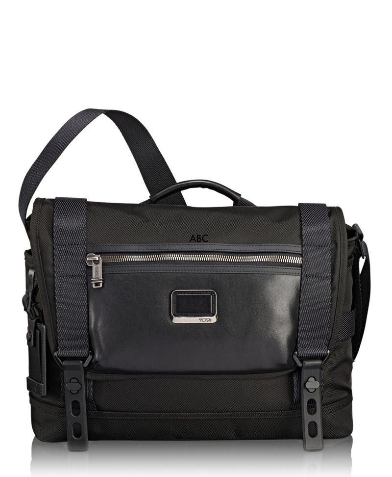 Tumi Alpha Bravo Fallon Messenger (Black) Messenger Bags