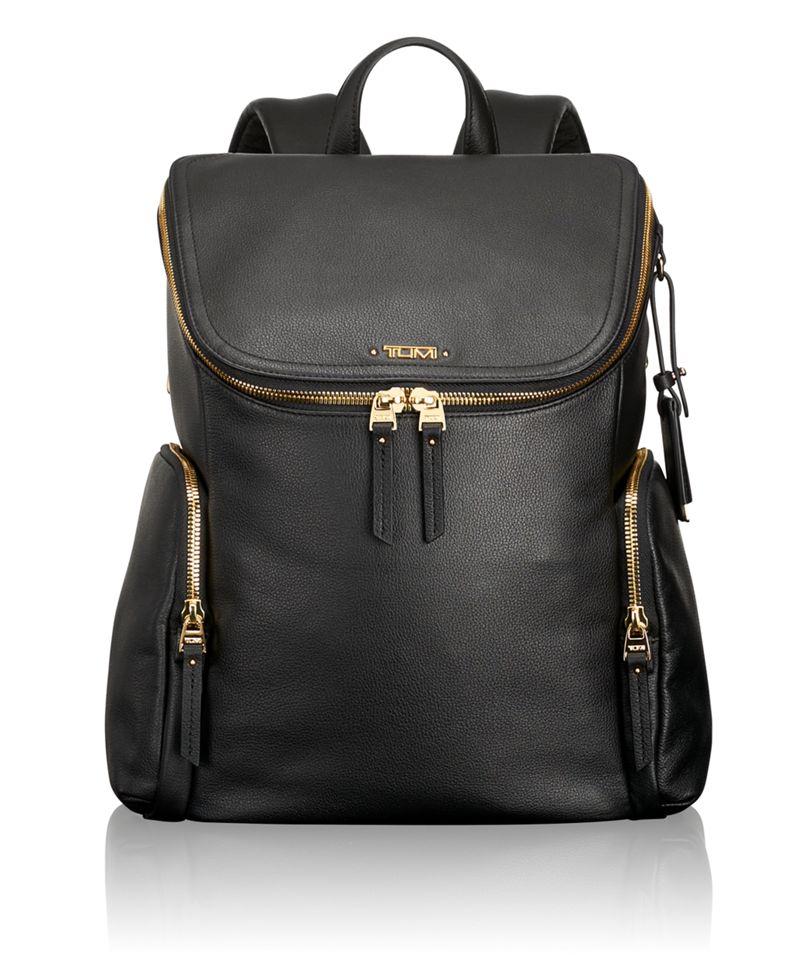 Lexa Zip Flap Leather Backpack