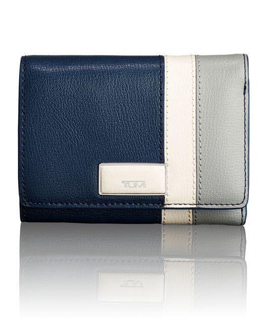 Tri-Fold Wallet in Stripes Multi Color