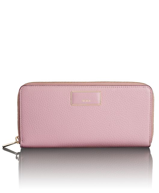 Zip-Around Continental in Pink