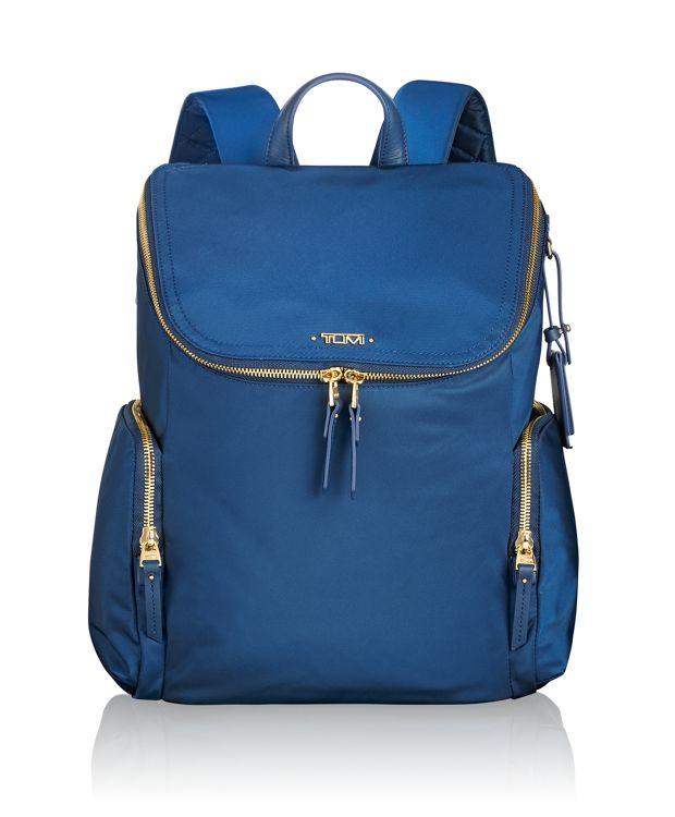 Lexa Zip Flap Backpack in Ocean Blue
