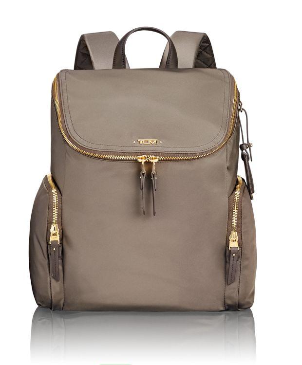 Lexa Zip Flap Backpack in Mink