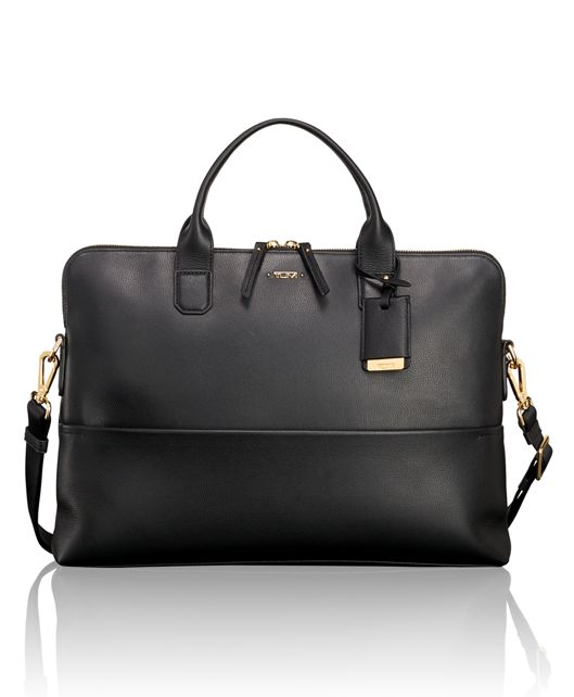 Tina Leather Laptop Carrier in Black
