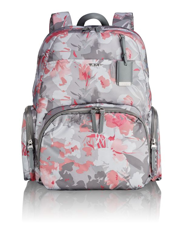 Calais Backpack in Grey Floral Print