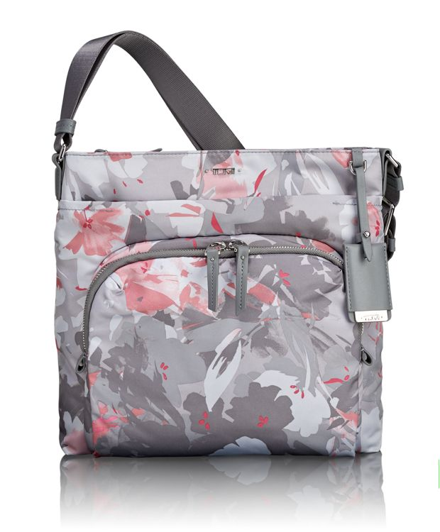 Capri Crossbody in Grey Floral Print