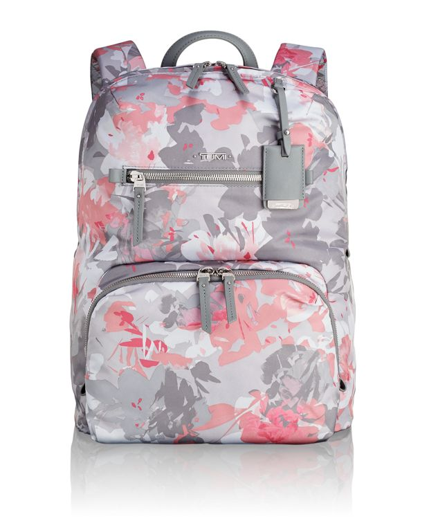 Halle Backpack in Grey Floral Print