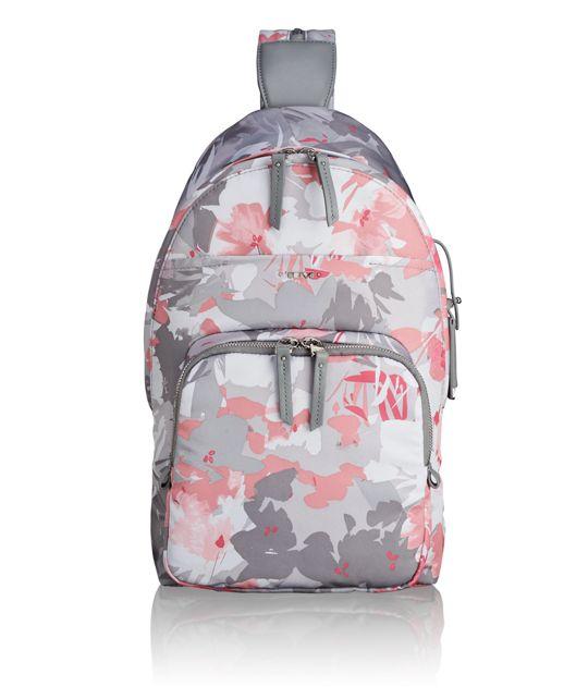 Nadia Convertible Backpack/Sling in Grey Floral Print