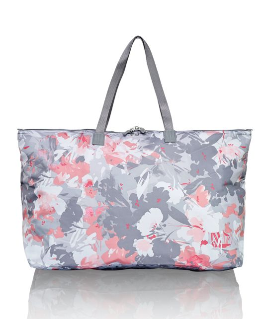 Just In Case® Tote in Grey Floral Print