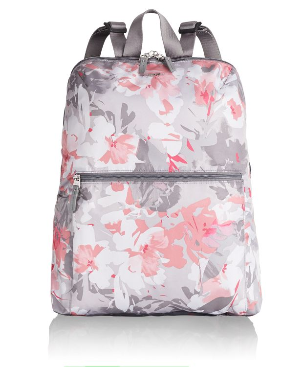 Just In Case® Backpack in Grey Floral Print