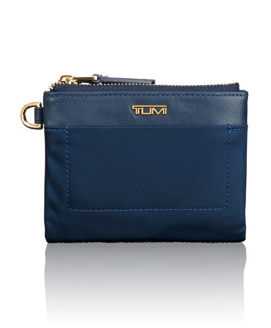 Double Zip Wallet in Ocean Blue