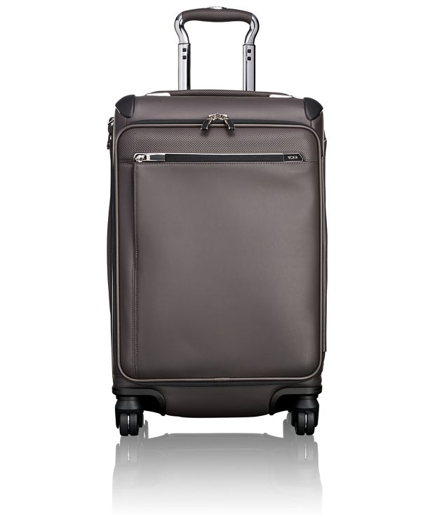 Gatwick International Expandable Leather Carry-On in Taupe