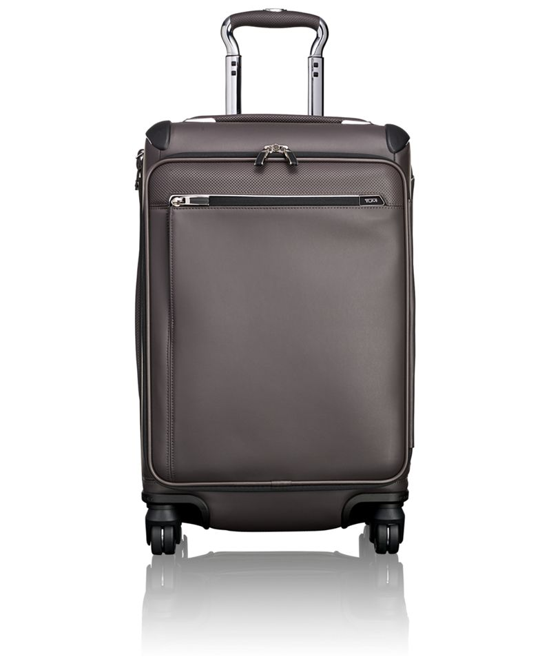 Gatwick International Expandable Leather Carry-On