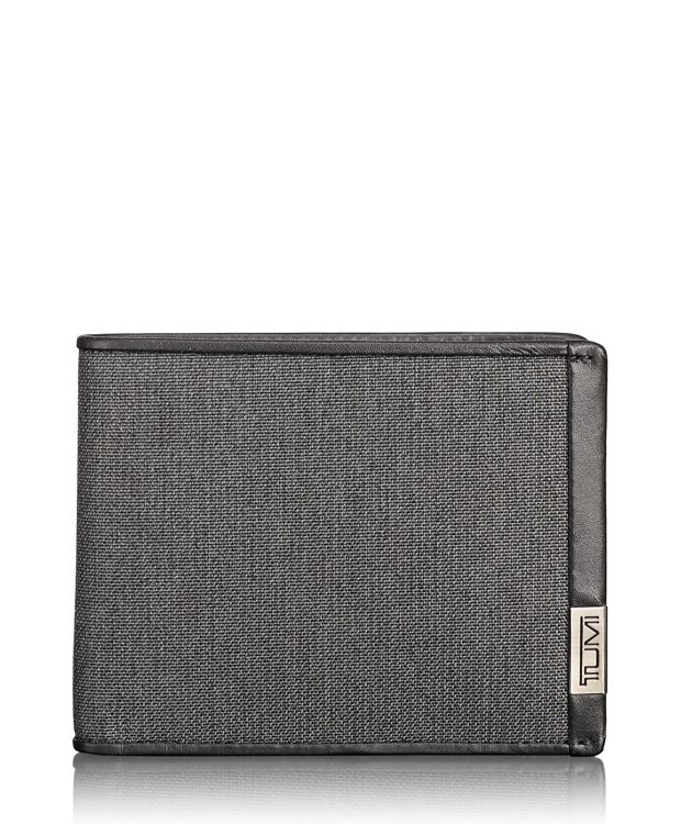 TUMI ID Lock™ Global Double Billfold in Anthracite/Black