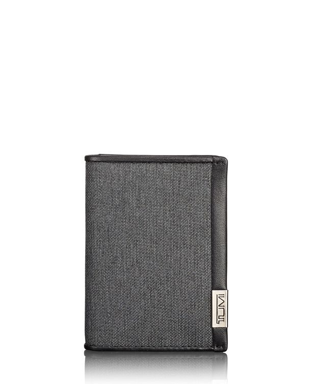 TUMI ID Lock™ Gusseted Card Case in Anthracite/Black
