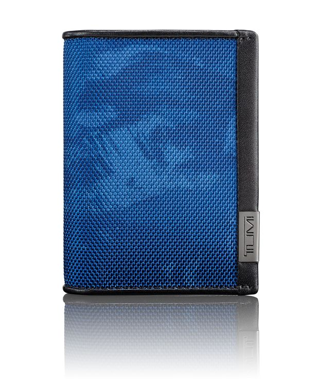 TUMI ID Lock™ Gusseted Card Case in Navy Restoration