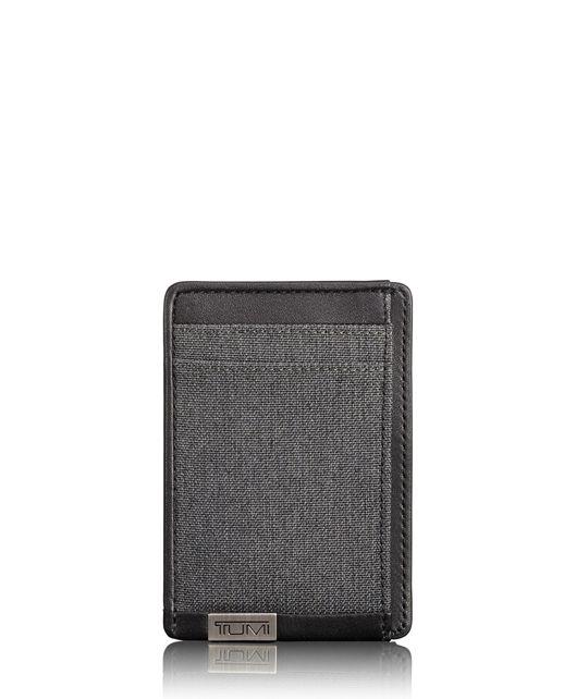 TUMI ID Lock™ 머니 클립 카드 케이스 in 앤트러사이트/블랙